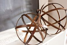 west elm knock off can make multiple and add electrical use as chandelier or mound onto wood block n use for lamps $2.00