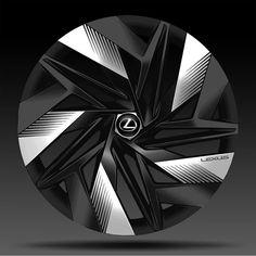"Almaz Zabbarov on Instagram: ""Lexus wheel design proposal  #lexusdesign #wheeldesign #sportwheels #wheelsketch #techdesigns #cdcofficial #hotroadnews #cardesignworld"" Scooter Wheels, Car Wheels, Rims For Cars, Gt Cars, Custom Big Rigs, Custom Cars, Car Ford, Ford Gt, Future Car"