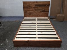 READY TO SHIP Full Size Wood Platform Bed Frame and by PereidaRice