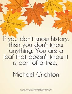 www.myawesomequotes.com - Michael Crichton Quote About History - Awesome Quotes For Everyone