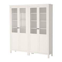 HEMNES Storage combination w/glass doors IKEA: