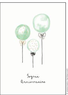 Carte Des ballons pour un joyeux anniversaire pour envoyer par La Poste, sur Merci-Facteur !