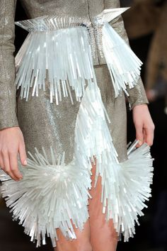 Solid Structured Fringing - experimental surfaces; 3D fashion details // Iris Van Herpen | @andwhatelse