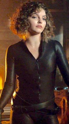 When Selina went full Catwoman with the suit and everything in season 4