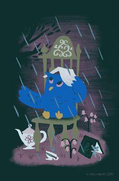 """Rain At Owl's Tea Party"""