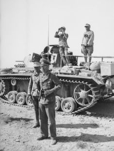 Georg von Bismarck stands before his command Pz III ready to meet Erwin Rommel