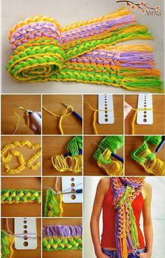 Crochet Hook Scarf Free Pattern