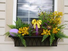 My Easter/Spring window box creation.