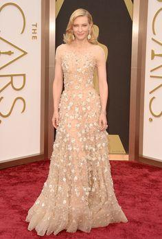 Brides.com: The Best Dresses at the 2014 Oscars. Cate Blanchett in Giorgio Armani