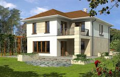 Projekt domu Leda 157,8 m2 - koszt budowy 226 tys. zł - EXTRADOM Modern House Design, Home Fashion, House Plans, Mansions, House Styles, Small Houses, Home Decor, Little Houses, Tiny Houses
