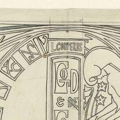 Ontwerp voor boekband van Couperus' God en de Goden, Jan Toorop, 1868 - 1928 - Rijksmuseum