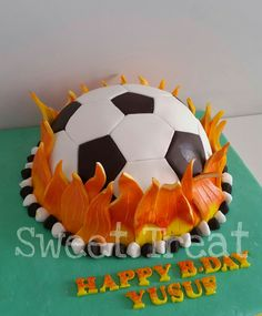 FIFA Soccer ball cake Football cake How to make a ball topper