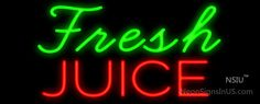 Fresh Juice Real Neon Glass Tube Neon Signs,Affordable and durable,Made in USA,if you want to get it ,please click the visit button or go to my website,you can get everything neon from us. based in CA USA, free shipping and 1 year warranty , 24/7 service