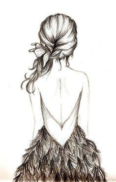 desenho de cabelo de costas - Bing Imagens