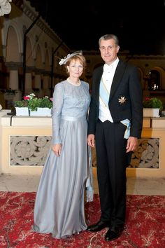 Princess Margarita of Romania and Prince Radu (Principesa Margareta a Romaniei si Principele Radu) Romanian Royal Family, Royal Families Of Europe, Casa Real, First Daughter, Blue Gown, Royal House, Lady And Gentlemen, Bridesmaid Dresses, Wedding Dresses