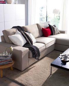 Un sofá con tapicería desenfundable