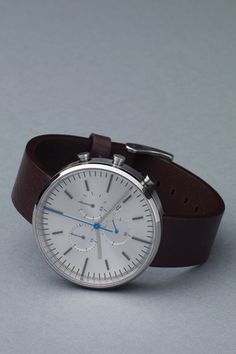 300 Series in Brushed Steel / Mahogany Leather by Uniform Wares