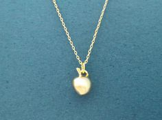 Adorable Apple Gold Silver Necklace Super Cute Fruit by Gliget
