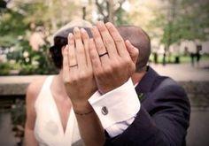 Simple wedding tattoo..... Love this idea!