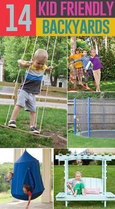 14 Ways to Make Your Backyard Child Friendly on a Budget # backyard trampoline grass - Backyard Design Backyard Ideas For Small Yards, Backyard For Kids, Backyard Projects, Diy For Kids, Cool Kids, Backyard Camping, Backyard Retreat, Outdoor Projects, Backyard Trampoline