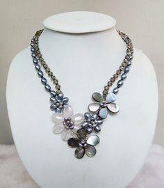 beadwork necklacebib necklacestatement by audreyjewelry on Etsy, $24.50