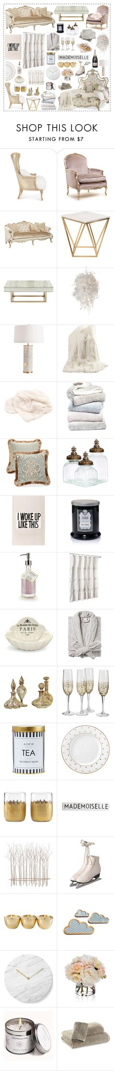 """Kappa Kappa Thau // scream queens home inspo // top home set 8/1/16"" by asterismos-x ❤ liked on Polyvore featuring interior, interiors, interior design, home, home decor, interior decorating, Massoud, BYRON, Universal Lighting and Decor and Nuevo"