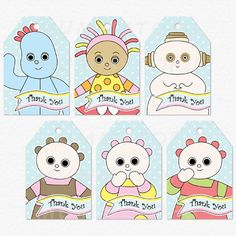 DIY Printable - In the Night Garden Party Thank You Favor Tags - Iggle Piggle, Upsy Daisy, Makka Pakka, Tombleboos Birthday Party Tables, First Birthday Parties, First Birthdays, Baby Boy Birthday, Diy Birthday, Birthday Ideas, Party Table Decorations, Party Themes, Party Ideas