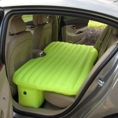 Sleeping in the car is typically a last ditch effort at getting some shut eye. Whether you've been kicked out, ran away from home, or are temporarily displaced, the Inflatable Car Airbed seems to like an excellent way to convert an uncomfortable back seat into a suitable spot to rest. It's also perfect for long road trips, where taking turns behind the wheel and being able to doze off is essential. The folded volume: 25cm x 22cm x10cm Please allow one month for delivery.