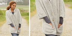 Clarice Knitted Jacket With Pockets [FREE Knitting Pattern]