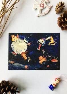 Cats up in the starry skyes illustration Size Original Art Print Etsy Coupon, Shop My, Animation, Unique Jewelry, Handmade Gifts, Create, Illustration, Vintage, Handcrafted Gifts