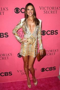Alessandra Ambrossio in Balmain @ Victoria's Secret party