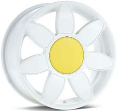 I need these!!!! ALL DAISY Volkswagen Beetle White Daisy Rim w/ Center Cap