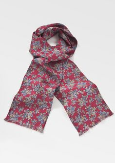 Classic Burgundy Men's Paisley Scarf by Designer Label Cantucci - $34.90