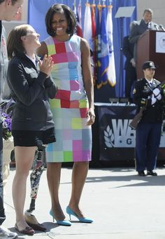 Michelle Obama wears a Preen Spring 2012 dress for the Warrior Games opening ceremony