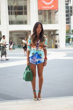 ...in tropical prints.