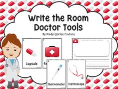 Students will love having the chance to walk around the room searching for the doctor tool posters that you have placed around the room. For this center all you need to do is copy the posters, laminate and stick them up around the room. Students then take a clipboard and recording sheet and write the words they find next to the letter on the recording sheet.