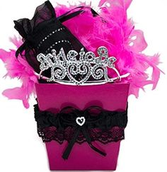 *****Hot Pink & Black Luxury Bride Gift Set | The House of Bachelorette