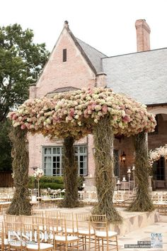 Gazebo or Chuppah Wedding Ceremony Decorations, Wedding Chuppah, Wedding Altars, Wedding Canopy, Pink Houses, Here Comes The Bride, Arches, Fall Wedding, Wedding Ideas