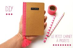 Gabulle in Wonderland : customiser un carnet avec un pompon du masking tape (customisation of a notebook : pompon and washi tape)