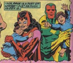 Scarlet witch and vision with their babies marvel Marvel Comics, Marvel Comic Books, Comic Book Characters, Marvel Characters, Comic Character, Mary Jane Watson, Jessica Jones, Young Avengers, Marvel Avengers