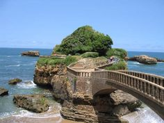 bridges in france   Beautiful bridges let you explore the Bay of Biscay. Biarritz, France.