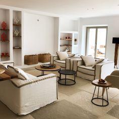 Sneak Peek from our brand new villa in 📸👀 Luxury Villas In Greece, Mykonos Greece, Greek Islands, Luxury Living, Dining Bench, Real Estate, Summer, Furniture, Home Decor