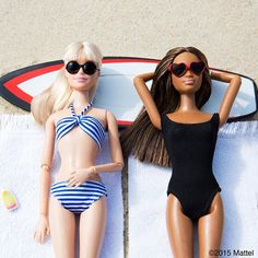 Catching rays for dayz. #montauk #barbie #barbiestyle