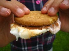 Now this is a s'more.  Marshmallow between two Mcvities. My childhood between two countries in one cookie.