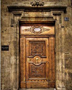 """""""Open the door. it may lead you someplace you never expected."""" ❤️ Doors of Provence! Wishing you a beautiful weekend. Cool Doors, The Doors, Windows And Doors, Grand Entrance, Entrance Doors, Doorway, Knobs And Knockers, Door Knobs, Door Handles"""