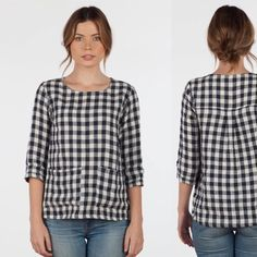I love the versatile nature of the 'Artists blouse'. Designed & made in a loose, comfortable and flattering style, the box pleat on the…