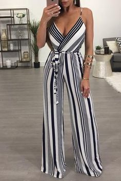 This pinstripe jumpsuit is the perfect blend of a classic and statement piece. Featuring a flowing leg and a self tie waist, the Bellamy Jumpsuit gives a modern Love Fashion, Fashion Outfits, Womens Fashion, Fashion Trends, Looks Style, My Style, Romper Suit, Fashion Portfolio, Trousers