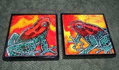 strawberry poison dart frog painting Strawberry Poison Dart Frog, Poison Dart Frogs, Contemporary Artwork, Painting & Drawing, Fantasy Art, Original Artwork, Fine Art, Drawings, Illustration