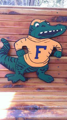 """16"""" Wooden Florida Gators Door Sign"""