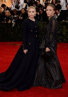 Pin for Later: Seid glamourös oder lasst es sein: Alle Stars vom roten Teppich der Met-Gala! Ashley und Mary-Kate Olsen